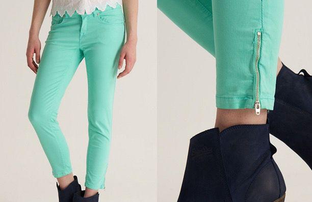 Superdry Damen Jeans Superdry Damen Jeans in Mint Grün für 13,76€