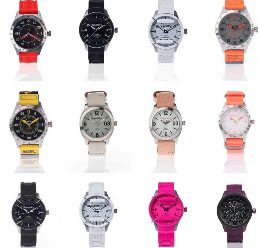 Superdry Uhren für Herren & Damen 15 Modelle für je 29,95€