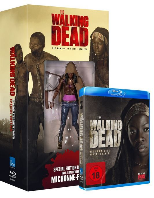 The Walking Dead   Die komplette dritte Staffel [Blu ray] + Michonne Figur für 24,97€