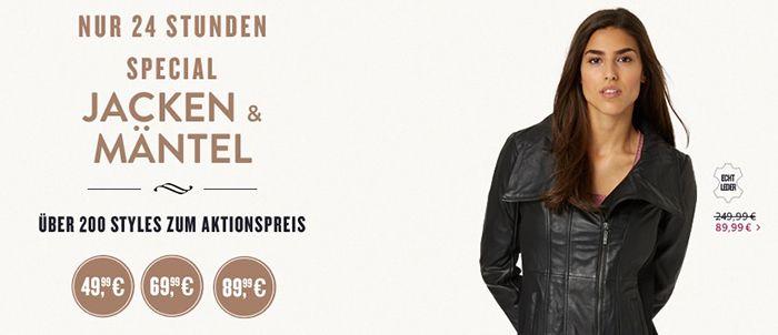 Jacken & Mäntel ab 50€ bei Tom Tailor   nur heute!