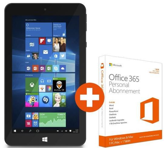 TrekStor Tablet TrekStor SurfTab wintron 7.0   7 Zoll Windows 10 Tablet mit Office 365 Personal für nur 49€