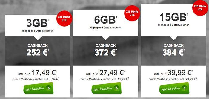 Vodafone DataGo Vodafone DataGo 3GB, 6GB oder 15GB ab 6,99€ monatlich