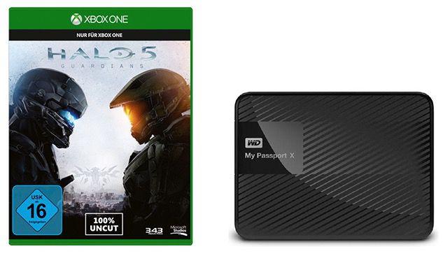 WD My Passport X 2TB Festplatte + Halo 5 (Xbox One) für 89€ (statt 122€)