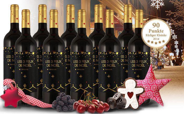 Weihnachts Wein Joseph Castan Les 3 Feux de Noël 2014 Probierpaket mit 10 Flaschen für nur 39,99€