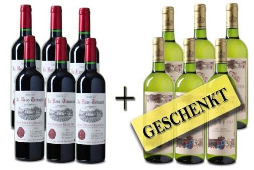 6 Flaschen Wein bestellen und 6 Flaschen geschenkt bekommen