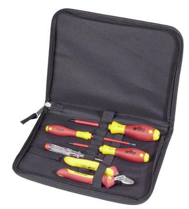 Wiha VDE Werkzeugset Wiha VDE Werkzeugset in Werkzeugtasche für 20€ (statt 45€)