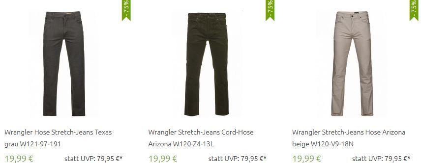 Wrangler Jeans Sale Wrangler Jeans und Hosen im Sale ab nur 4,99€