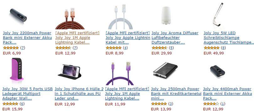 amazon joly 20% Rabatt auf Joly Joy Produkte via Amazon
