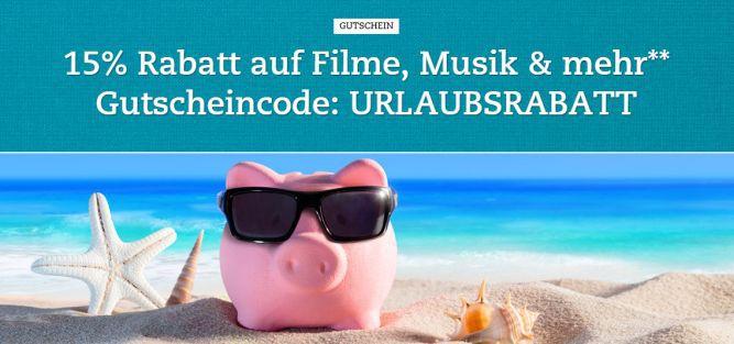 buch.de gutschein 15% Rabatt auf Filme, Musik und mehr bei Buch.de