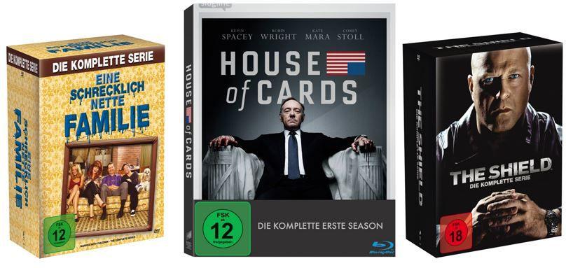 house of cards Eine schrecklich nette Familie für 32,97€ und mehr Kult Serien zu guten Preisen als Amazon Tagesangebot