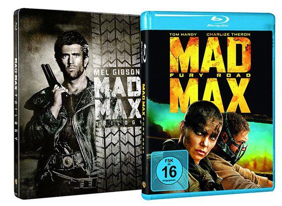 Mad Max Trilogie (Steelbook)  inkl. Mad Max Fury Road auf Blu ray für 24,99€