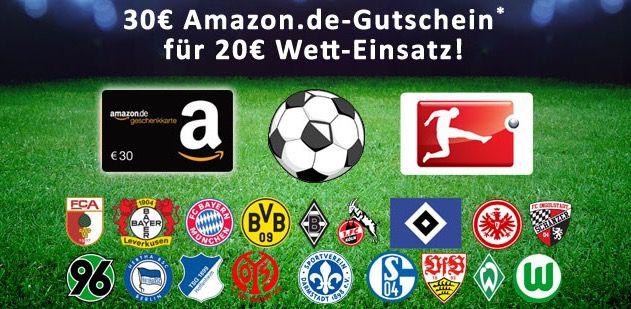 Bonus Deal: 30€ Amazon.de Gutschein* geschenkt für 20€ mybet Wetteinsatz