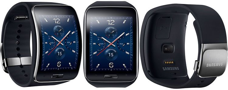 samsung smartwatch Samsung Galaxy Gear S SM R750 blau/schwarz für 189,95€ statt 248,10€ [B WARE]