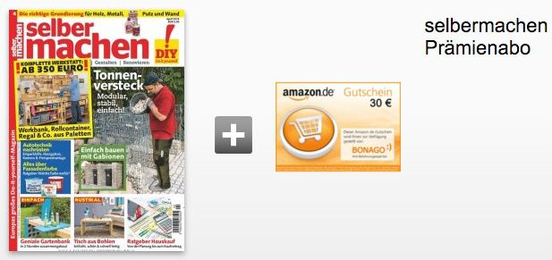"""Jahresabo """"Selbermachen"""" für 41,80€ + 30€ Verrechnungsscheck oder Gutschein"""