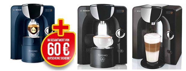 tassimo Bosch Tassimo T55 Charmy + 60 € Guthaben für 49,95 € inkl. Versand