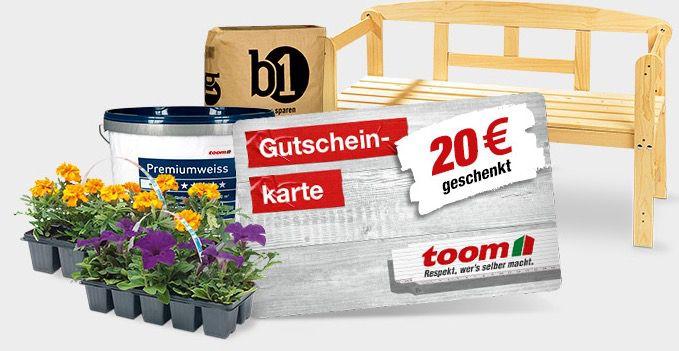 Nur heute: 20€ Gutschein beim Einkauf von mind. 100€ beim toom Baumarkt