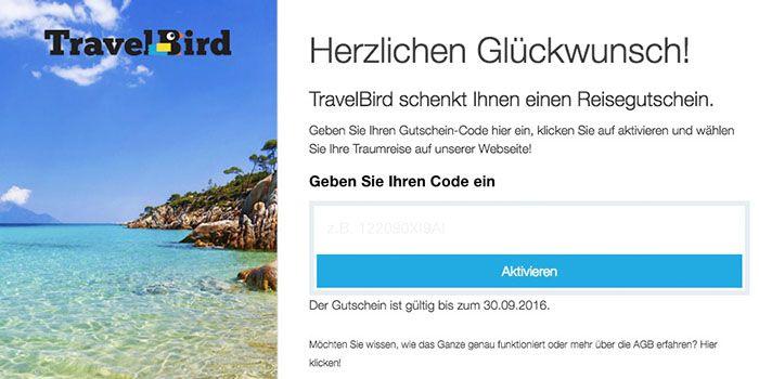 travelbird Travelbird Gutscheine   25€ Rabatt ab 158€ oder 50€ Rabatt ab 300€