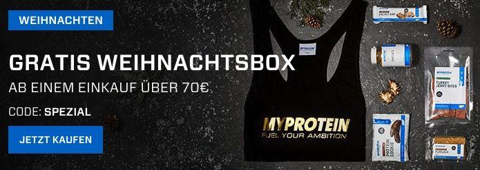 20% Rabatt auf Alles bei MyProtein + VSK frei ab 40€ + gratis Weihnachtsbox ab 70€ MBW