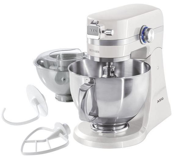 AEG UltraMix KM 4100   Vollmetall Küchenmaschine mit 2 Edelstahl Rührschüsseln statt 349€ für 289,99€