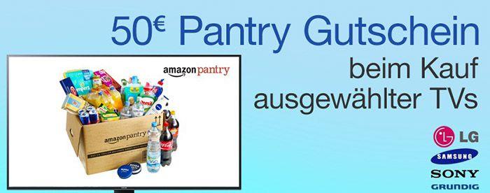 Amazon Pantry 50€ Amazon Pantry Gutschein beim Kauf ausgewählter Fernseher