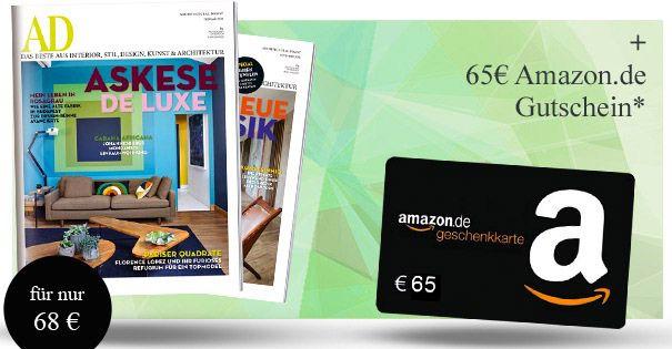 Architectural Digest 10 Ausgaben Architectural Digest für eff. 3€