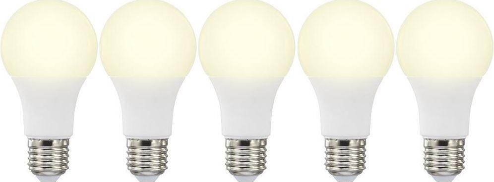 Basetech: 5 LED (einfarbig) E27 mit 10W (60W) für 12,99€