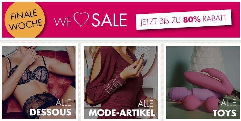 Beate Uhse mit bis zu 50% Rabatt im Sale + bis 15€ Gutschein