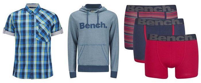 Bench Sale Bench Sale bei Zavvi + VSK frei   z.B. Pullover ab 18€ oder 3 Boxershorts für 13€