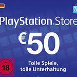 50€ Playstation Network Guthaben für 44,99€