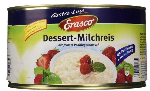 Krass! 4,5 KG Erasco Dessert Milchreis nur 10€ als Primer (Vergleich 22€)