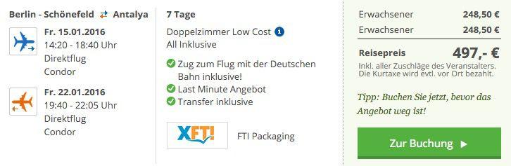 7 Tage Türkei im 5* Hotel + Flug, All Inc. & Transfer ab 249€ p.P.