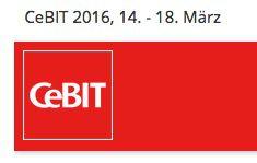Gratis Ticket für die CeBIT 2016 in Hannover (14. 18. März)