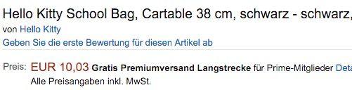 Hello Kitty Tasche ab 10,03€ (statt 51€)