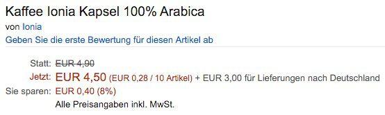 Bildschirmfoto 2016 01 13 um 10.06.09 Preisfehler! 160 Arabica Kaffee Kapseln für 7,50€ (statt 80€)   ABGELAUFEN!