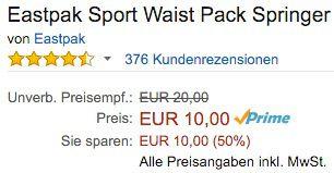 Eastpak Springer Gürteltasche ab 10€ (statt 18€)