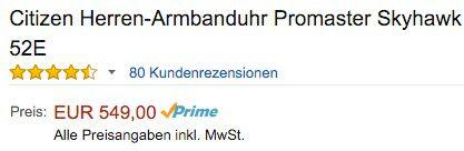 Citizen Promaster Skyhawk Armbanduhr für 549€ (statt 669€)