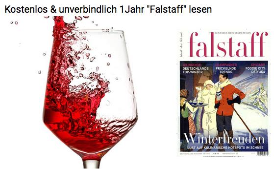 """Gratis ! 10 Ausgaben """"Falstaff""""   Schnell sein!"""