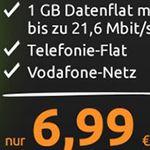 Vodafone Allnet-Flat mit 1GB für 6,99€ mtl.