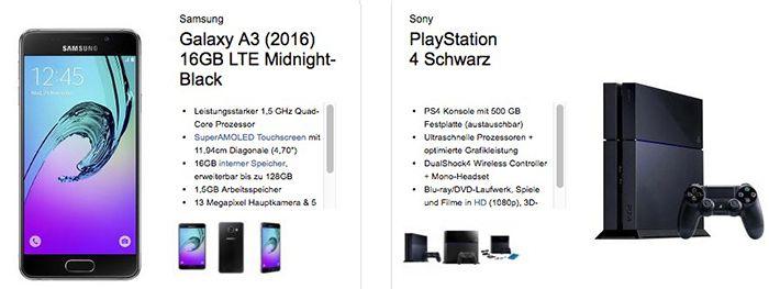 Bildschirmfoto 2016 06 29 um 13.40.11 Samsung Galaxy A3 + Playstation 4 + otelo Allnet Flat XL mit 2,5GB für 29,99€ mtl.