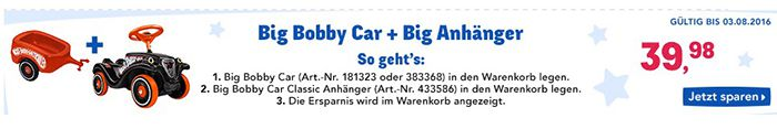 Bobby Car Classic + Flüsterreifen + Anhänger für 42,93€ (statt 51€)