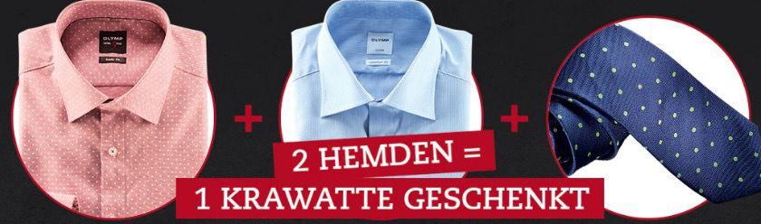 Bildschirmfoto 2016 10 17 um 10.38.15 2 Olymp Herren Hemden für 90€ (statt 100€) + gratis Krawatte (Wert 30€)