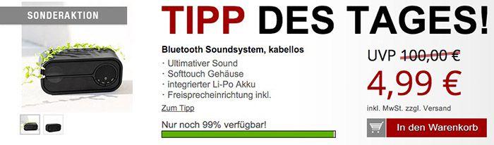 Kabelloser Bluetooth Lautsprecher + Gratis Artikel für 10,96€