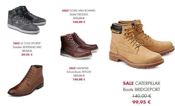 Caterpillar Tommy Hilfiger, Napuri, Le CoQ und mehr Schuhe im 50% Sale