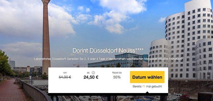 Dorint Hotel 1 3 Nächte im 4 Sterne Dorint Hotel Düsseldorf/Neuss mit Frühstück ab 24,50€ p.P.