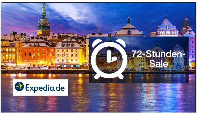 Expedia Sale Expedia 72 Stunden Sale: 500Hotels weltweit mit bis zu 65% Rabatt!