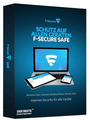 F Secure SAFE Internet Security (10 Geräte, 1 Jahr, Windows & Mac) für 12,98€ (statt 67€)