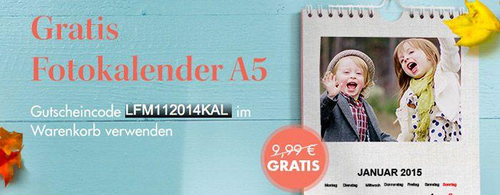 Fotokalender A5 Gratis (zzgl. VSK 4,99€) (statt 15€)