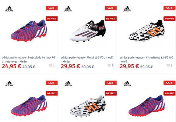 Fussballschuhe 50% Rabatt auf Fußballschuhe + 5€ Gutschein ab 49€