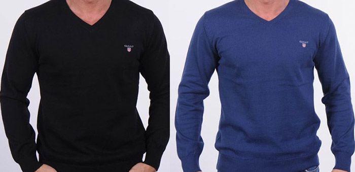 GIANT Pullover GANT V Neck Herren Pullover für 36,73€ (statt 54€)