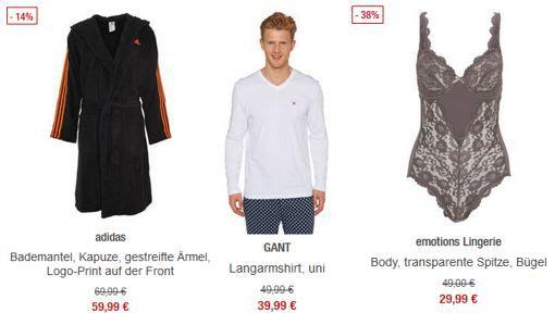 20% Rabatt auf bereits reduzierte Unterwäsche bei den Galeria Kaufhof Mondschein Angeboten
